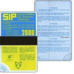 The Phonecard Shop: Italy, Sip, Sida 1, first group, no date, L.2000