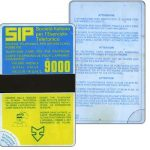 The Phonecard Shop: Italy, Sip, Sida 1, first group, no date, L.9000