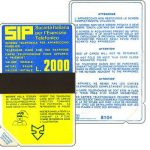 The Phonecard Shop: Italy, Sip, Sida 1, first group, 8104, L.2000