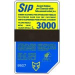 The Phonecard Shop: Italy, Sip, Sida 3, third group, 8607, L.3000