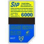 The Phonecard Shop: Italy, Sip, Sida 3, third group, 8607, L.6000