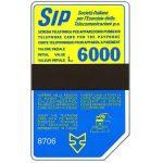 The Phonecard Shop: Italy, Sip, Sida 3, third group, 8706, L.6000