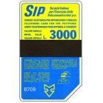 The Phonecard Shop: Italy, Sip, Sida 3, third group, 8709, L.3000