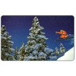 Phonecard for sale: Winter 94-95, ski jump, 100 units