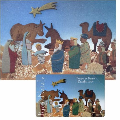 Presepe di biscotti, Christmas 92, 30.06.96, L.5000, in folder