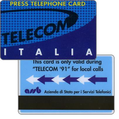 Press telephone card, Geneve Telecom '91