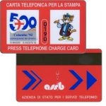 Phonecard for sale: Press telephone card, Colombo '92 Genova