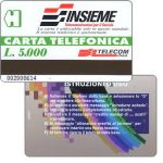 Phonecard for sale: Insieme, experimental card for use in hospitals, L. 5.000