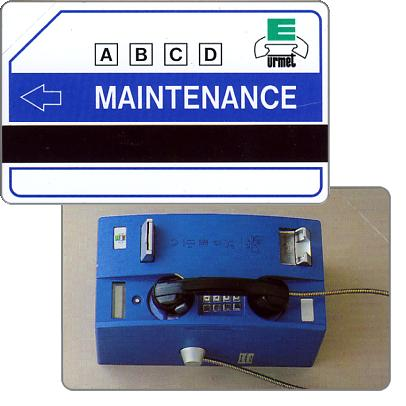 Urmet maintenance card, blue phone, without Urmet logo