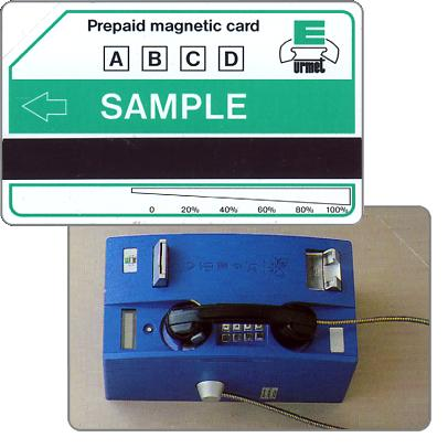 Urmet sample card, blue phone, without Urmet logo