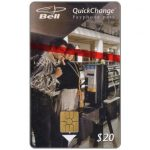 The Phonecard Shop: Bell QuickChange - First issue, couple at pay phone, $20