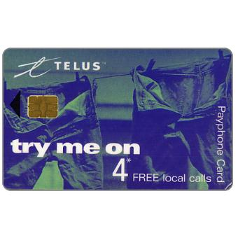 Phonecard for sale: Telus - Promotional card, jeans, 4 free local calls