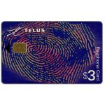 The Phonecard Shop: Canada, Telus - Promotional card, fingerprint, $3