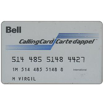 Bell - Calling Card / Carte d'Appel, telephone credit card