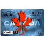 The Phonecard Shop: Bell Canada - Cardex 95, $1