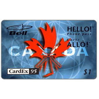Phonecard for sale: Bell Canada - Cardex 95, $1