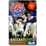 The Phonecard Shop: Canada, Bell Canada - Toronto Blue Jays - World Series, $5
