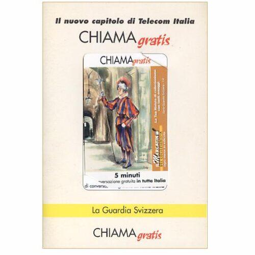 The Phonecard Shop: Italy, La Guardia Svizzera 1/6, 5 min., in folder