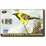 The Phonecard Shop: Birds, Chorcha (Icterus Pustulatus), 1000 colones