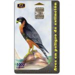 The Phonecard Shop: Birds, Halcon Pechirrufo (Falco Deiroleucus), 1000 colones