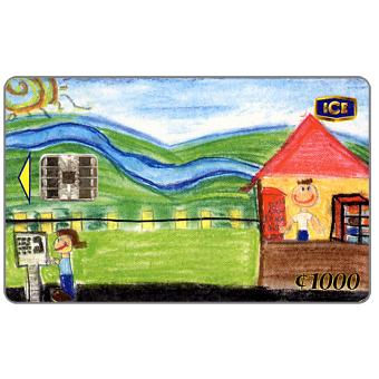 The Phonecard Shop: Costa Rica, Children's drawing, 1000 colones