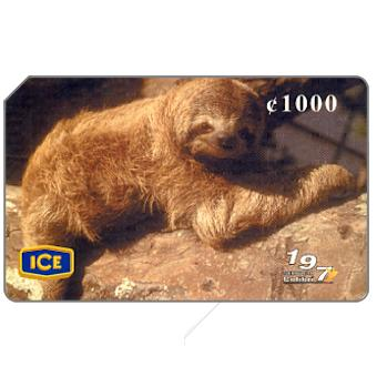 Phonecard for sale: Fauna of Costarica, Sloth 2, 1000 colones