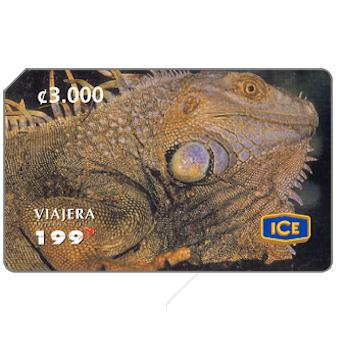 Phonecard for sale: Green Iguana, 3000 colones