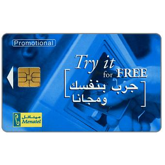 Menatel - Promotional card - Try it for free, L.E.2