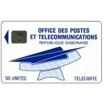 The Phonecard Shop: Gabon, First definitive, OPT logo, chip SC-4 Afnor, 50 units