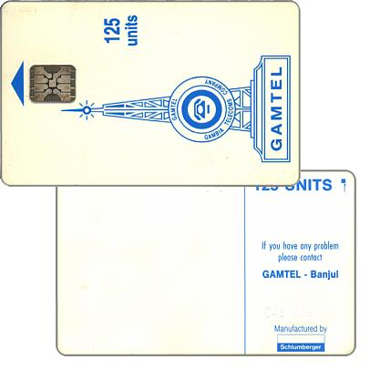 Gamtel logo, reverse 4 (3 lines of wordings in centre), matt surface, chip SC-5 ISO, 125 units