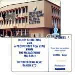 The Phonecard Shop: Meridian Bank, Merry Christmas on back, 60 units