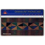 The Phonecard Shop: Ghana, First issue, tapestry, 'Adwin asa', 910A, 60 units