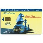 The Phonecard Shop: Italy, Albacom - Albavox Prima, chess, L. 10.000