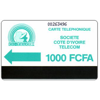 CI Telecom - Green logo, without notch, 1000 FCFA