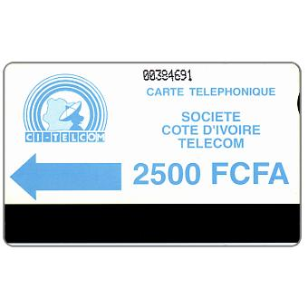 CI Telecom - Blue logo, notched, 2500 FCFA
