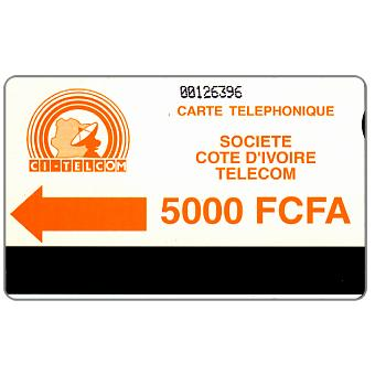 CI Telecom - Orange logo, notched, 5000 FCFA