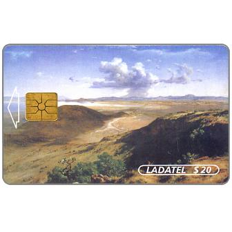 Phonecard for sale: Ladatel, Mexican landscapes, paintings of the 19th century, Vista del Valle de Mexico, $20