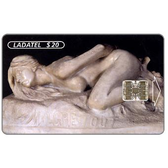 Phonecard for sale: Ladatel, Sculptures, Malgre Tout 1898, $20