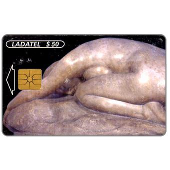 Phonecard for sale: Ladatel, Sculptures, Desespoir 1900, $50