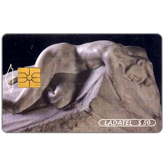 Phonecard for sale: Ladatel, Sculptures, El sepulcro de J.Ruelas, $50