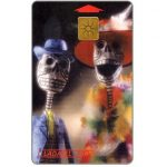 Phonecard for sale: Ladatel, Holidays, Calaveras de papel, $20