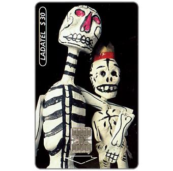 Phonecard for sale: Ladatel, Holidays, Calaveras de papel, $3