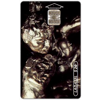 Phonecard for sale: Ladatel, Sculptures by A.Rodin, Las Tres Sombras 1880, $20