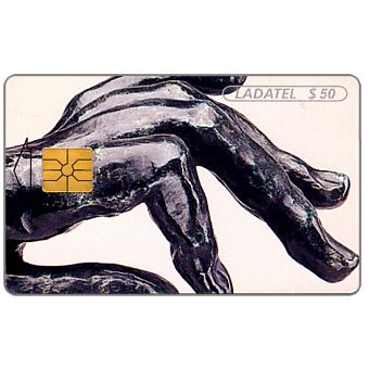 Phonecard for sale: Ladatel, Hands, sculptures by A.Rodin, Mano de pianista 1885, $20