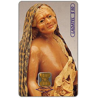 Phonecard for sale: Ladatel, Waxworks by Andrès Garcìa, 19th century, Mendiga, $50