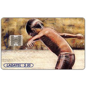 Phonecard for sale: Ladatel, Waxworks by Andrès Garcìa, 19th century, Vendedora de Comida, $50
