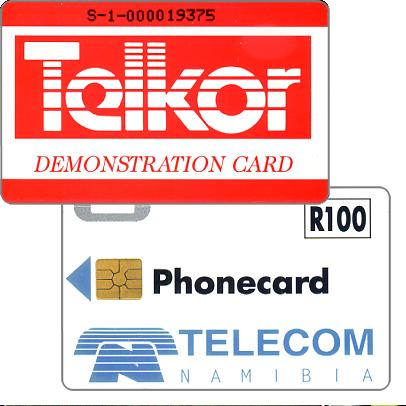 Telkor Demonstration card, code S-1 + 9 digits on reverse, R100