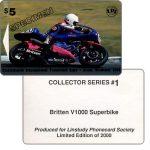The Phonecard Shop: Christchurch International Phonecard Expo, Britten V1000 Superbike #1, specimen, $5