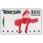 The Phonecard Shop: New Zealand, Christmas 1990, Father Christmas, $10