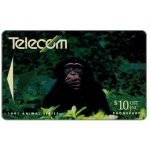 The Phonecard Shop: Wild animals, Chimpanzee, $10